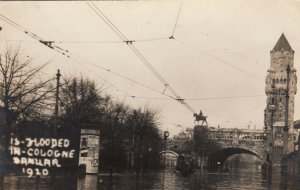 RP: COLOGNE , Germany, 1920 ; Flood Scene #1