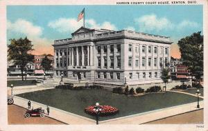 Hardin County Court House, Kenton, Ohio, Early Postcard, Used