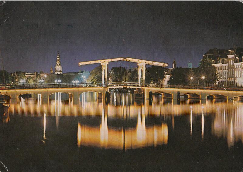 Netherlands Amsterdam skinny bridge over the Amstel