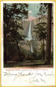Yosemite Falls, Yosemite Valley, California - 1907
