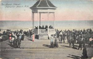 Hampton Beach New Hampshire Band Stand Beach Scene Antique Postcard K30670