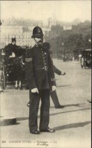 London - Police Officer Cop Bobby c1910  Postcard