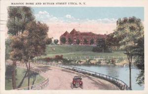 New York Utica MAsonic Home And Rutger Street Utica 1923