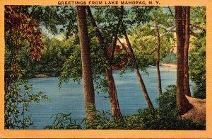 New York Greetings From Lake Mahopac 1942
