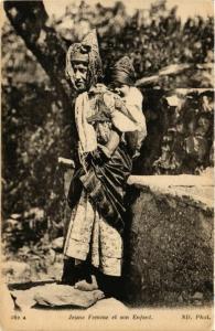 CPA ND 162 Jeune Femme et son Enfant ALGERIE (824395)