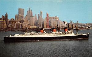 Queen Mary and New York City, Cunard Superliner White Star Line Cunard Ship U...