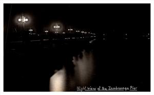 16175   Philippins Zamboongo Night View of Pier RPC