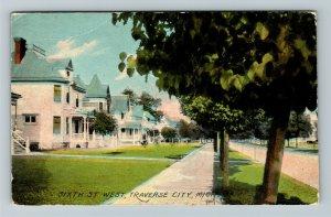 Traverse City MI-Michigan, Sixth Street West Vintage Postcard