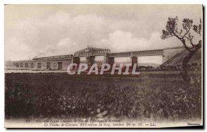 Old Postcard New Line's Railway has Miramas Estaque Viaduct Caronte