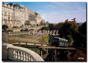 Postcard Modern Pau Pyrenees The funicular and the Pyrenees Boulevard