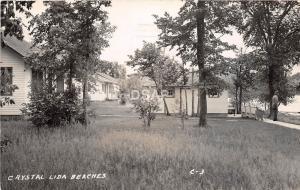 C82/ Lake Lida Minnesota Mn Photo RPPC Postcard 1946 Crystal Lida Beach Cabins