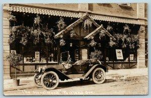 Postcard OR Portland The Hazelwood Restaurant c1920 Car RPPC Real Photo U13