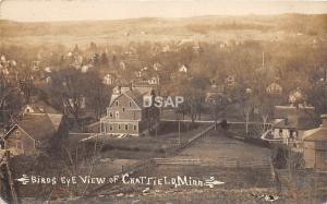 C86/ Chatfield Minnesota Mn Real Photo RPPC Postcard c1910 Birdseye View Homes