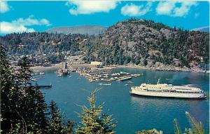 Horseshoe Bay West Vancouver British Columbia BC Postcard