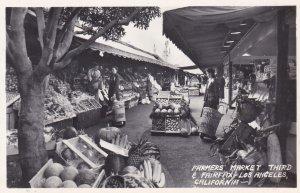 California Los Angeles Farmers' Market Real Photo