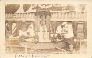 El Centro CA PM~Orange Exhibit~Alfred Pure Ice Cream Co~Check Room~1925 RPPC