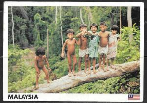 Malaysia, Penan Children (5x7 PC) mailed in 2003 to Czech