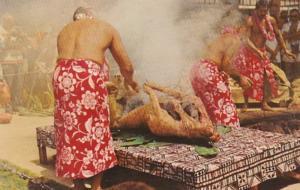 Hawaii Honolulu Luau Pig