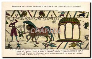 Postcard Old Bayeux Tapestry William Queen informs the message & # 39Edouard ...