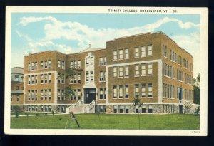 Burlington, Vermont/VT Postcard, View Of Trinity College