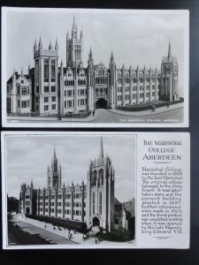 Aberdeen: 2 Postcards of The Marischal College c1957