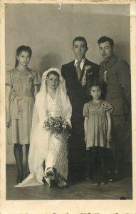 Romania wedding photo postcard bride groom Ramnicu Valcea Mihalcescu si Ilarion