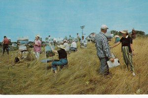 KENNEBUNKPORT , Maine , 1950-60s ; Cape Porpoise Hilltop , Outdoor Painting C...