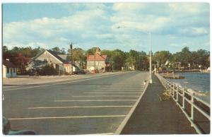 Causeway and Entrance to Naples, Maine 1950s unused Postcard