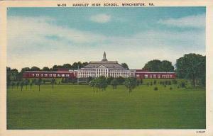 Handley High School, Winchester, Virginia,30-40s