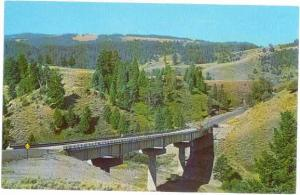 Yellowstone River Bridge near Tower Falls Yellowstone WY