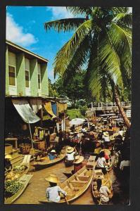 Floating Market Dhonburi Bangka Thailand unused c1950's
