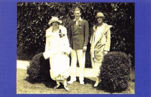 Postcard Nostalgia 1924 Tennis Fashion Lady Edward Spencer Churchill Repro Card