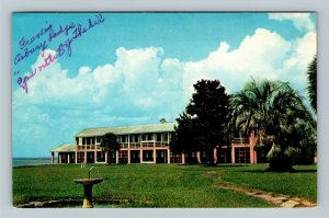 St Simons Island GA, Francis Asbury Lodge, Chrome Georgia Postcard