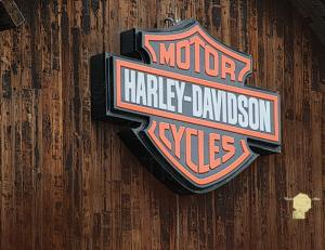 Set of 6 Fine Art Photography Postcard Harley Davidson Sign in West Jordan Utah