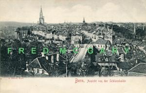 1907 Switzerland PC: Bern, Ansicht von der Schlosshalde