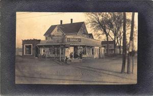 Brookville MA Cash Store Trolley Waiting Room RPPC Postcard