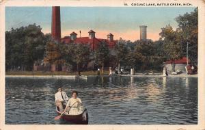 Goguac Lake, Battle Creek, Michigan, Early Postcard, Used in 1918