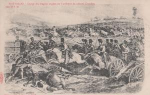 Waterloo Albert Sugg Charge De Dragons Anglais Colonel Chandon Antique Postcard