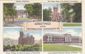 New York Greetings From Syracuse University Multi View