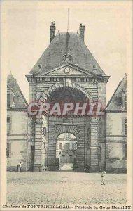 Old Postcard Fontainebleau Castle Gate Court Henry