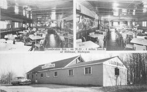 Autos Entrance Floodwater Inn Interior 1959 Postcard O'Neil roadside 3172