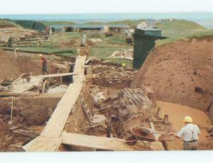 Pre-1980 EXCAVATION AT FORT IN PARK Aulac In Sackville - Near Moncton NB E6850