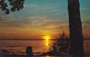 Sunset On St Laurent Riviere Du Loup Quebec Canada