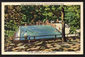 Swimming Pool Lokoya Mountain Lodge Napa CA Post Card  5452
