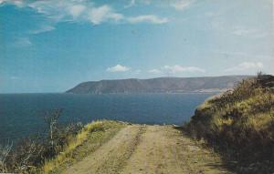 Narrow dirt road from Meat Cove, Cape North and Bay St. Lawrence, Cape Breton...