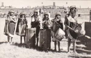 Mexico Teotihua Local Indian Musicians Real Photo