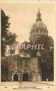 Old Postcard Boulogne-sur-Mer - Porte de Calais and the Cathedral