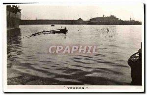 Old Postcard Boat War Verdun