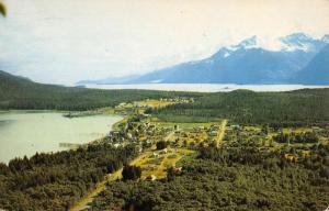Port Chilkott Alaska Birdseye View Of City Haines Vintage Postcard K83168