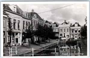 RPPC  SNEEK, NETHERLANDS   Street Scene  LEEUWENBRUG  c1950s  Postcard